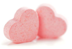 Hearts Shaped Sugar Pills. Royalty Free Stock Images