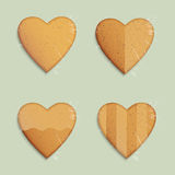 Hearts shapes cookies Stock Photography