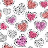 Hearts shapes repeatable pattern Stock Photos