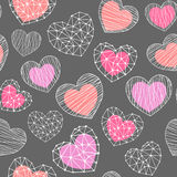 Hearts shapes seamless pattern Royalty Free Stock Image