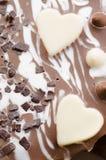 Hearts shapes on valentine's cake Royalty Free Stock Photo