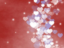 Hearts and shimmering light Background Royalty Free Stock Photos