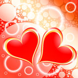 Hearts Shiny Holiday Background Royalty Free Stock Photos