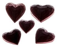 Hearts silhouette isolated Royalty Free Stock Photo