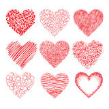 Hearts sketch Royalty Free Stock Photo