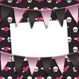 Hearts and skulls Royalty Free Stock Photos