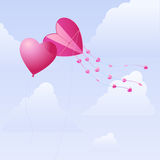 Hearts in the sky Royalty Free Stock Photos