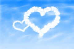 Hearts in the sky Stock Photography