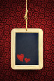 Hearts in Slate Stock Photography