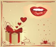 Hearts and smile. Valentines day royalty free stock photos