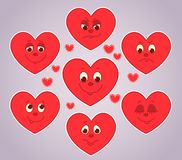 Hearts smiles. Royalty Free Stock Photography