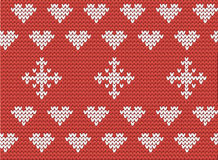 Hearts and snowflakes pattern Royalty Free Stock Photo