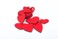 Hearts. Some red hearts on white Royalty Free Stock Photos