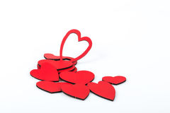 Hearts. Some red hearts on white Royalty Free Stock Images