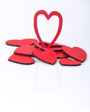 Hearts. Some red hearts on white Royalty Free Stock Photo