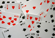 Hearts and spades royalty free stock photography