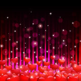 Hearts and sparks Stock Images