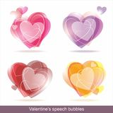 Hearts speech bubbles Stock Images