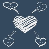 Hearts speech bubbles Stock Photos