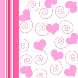 Hearts and spirals - Vector Stock Photos