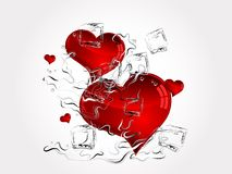 Hearts in splash Stock Image