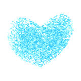 Hearts of splatter Royalty Free Stock Images