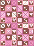 Hearts and squares Stock Photos