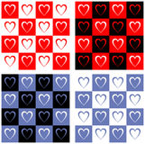 Hearts on squares Royalty Free Stock Photography