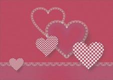 Hearts for st Valentine. Decorative composition of nice hearts for st Valentine Royalty Free Stock Photo