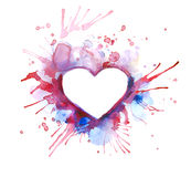 Hearts - St. Valentine's day. Light background with hearts - St. Valentine's day or wedding postal Stock Images