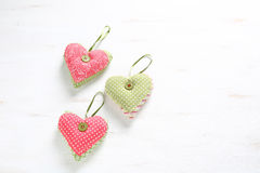 Hearts on a St. Valentines Day Stock Photography