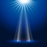 Hearts Stage Represents Beam Of Light And Glow Royalty Free Stock Image