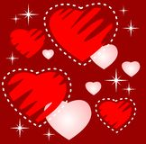 Hearts and stars Royalty Free Stock Photography