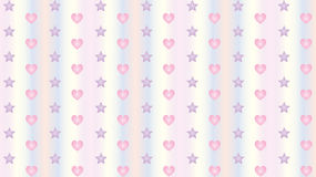 Hearts and Stars Background Wallpaper. Cute Cartoon Hearts and Stars Seamless Pattern Background Wallpaper Stock Photos