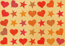 Hearts and stars backgrounds. Holiday symbol Royalty Free Stock Photos