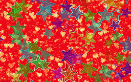 Hearts and stars backgrounds. Holiday symbol Royalty Free Stock Photography