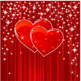 Hearts, stars and stripes. Red Valentine background with hearts, stars and stripes Royalty Free Stock Photos