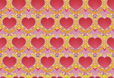 Hearts and stars wallpaper Royalty Free Stock Images
