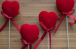 Hearts with sticks Royalty Free Stock Photo