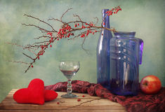 Hearts in still life Stock Photography