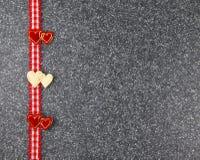 Hearts on stone Stock Image