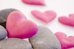 Hearts with stones Stock Photos