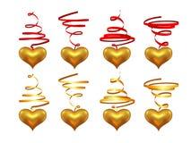 Hearts on a streamer Stock Photo
