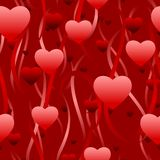 Hearts and streamers Royalty Free Stock Photography
