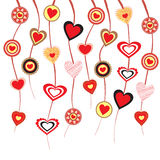 Hearts on strings Royalty Free Stock Images