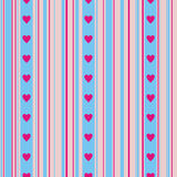 Hearts on a striped background Stock Image