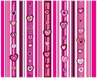 Hearts with stripes Stock Image