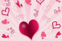 Hearts and stripes Royalty Free Stock Images