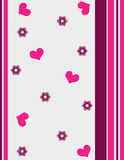 Hearts and stripes Royalty Free Stock Photos