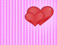 Hearts stripes background Royalty Free Stock Images